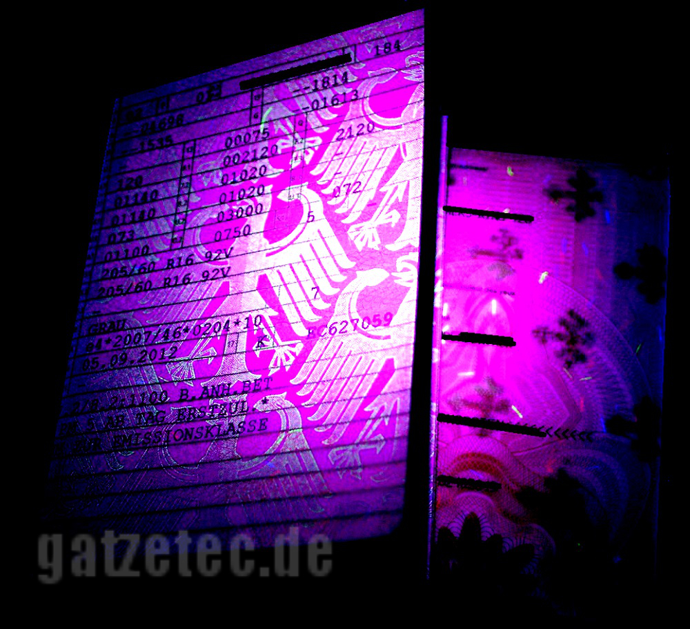Gatzetec WF 501 B UV LED linterna 395nm// 365nm negro luz # ultrafire 2019