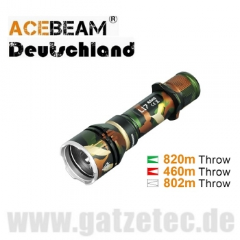 ACEBEAM L17 LED Taschenlampe Camo-Edition