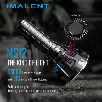 Imalent MS12W LED Taschenlampe