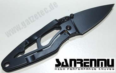 Sanrenmu 614 EDC Messer Black Magic